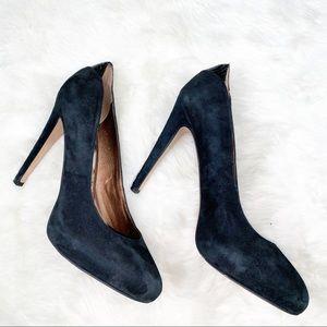 Sam Edelman Jasmine black suede heels, sz 9